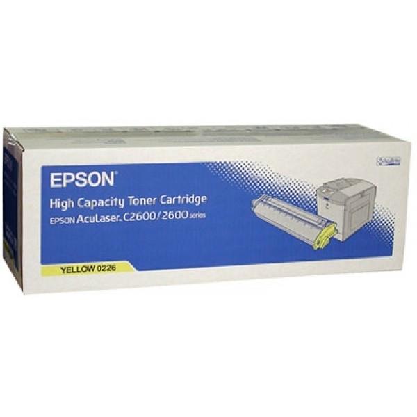 Epson C2600/C13S050226 Orjinal Sarı Toner Y.K.