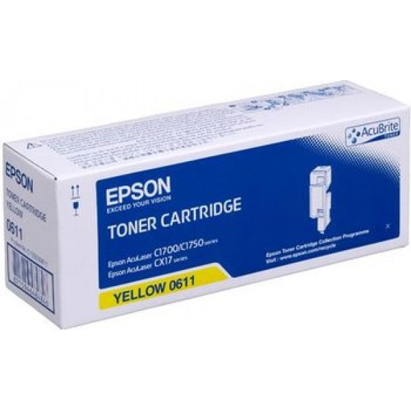 Epson CX-17-C1700-C1750-C13S050611 Orjinal Sarı Toner Y.K.